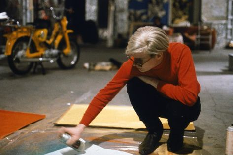 """Andy Warhol Paintings Beginning """"The Thinker"""" Andy-Warhol's ( Blue Blotch) Early 1960's Andy Warhol Painting's--""""A Gold Marilyn 'Comparable' Background. """" """"EVIDENCE RESEARCH WEBSITE"""" Viewing Only"""