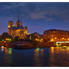 -Ile de la Cite Night Panorama - France Panoramas