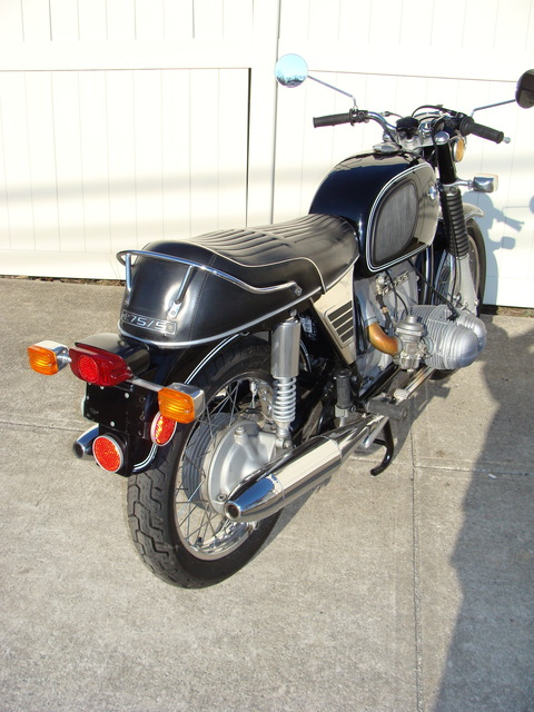 DSC02548 2999030 - 1973 BMW R75/5 LWB. BLACK. Large tank, Very clean & original, Matching Numbers. Hannigan Touring Fairing. New tires & much more!