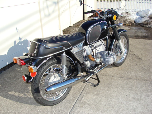 DSC02551 2999030 - 1973 BMW R75/5 LWB. BLACK. Large tank, Very clean & original, Matching Numbers. Hannigan Touring Fairing. New tires & much more!
