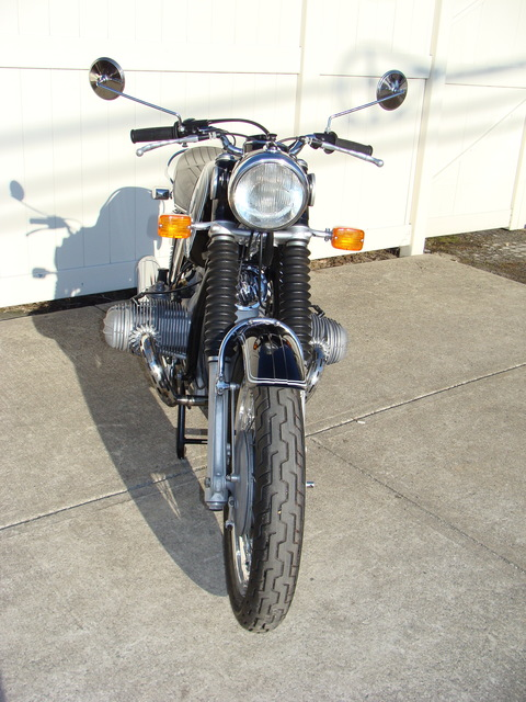 DSC02563 2999030 - 1973 BMW R75/5 LWB. BLACK. Large tank, Very clean & original, Matching Numbers. Hannigan Touring Fairing. New tires & much more!