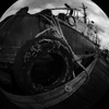 Comox Docks 2021 2 - Black & White and Sepia
