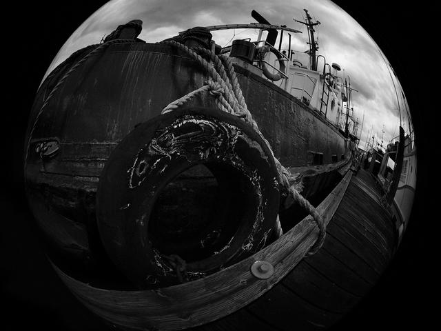 Comox Docks 2021 2 Black & White and Sepia