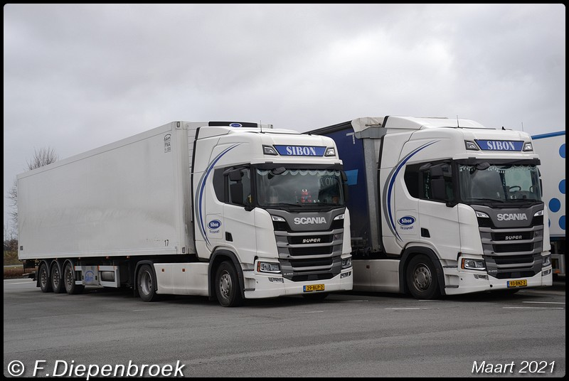 Sibon Transport Scania line up2-BorderMaker - 2021