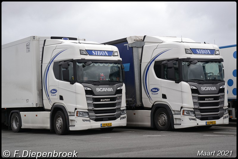 Sibon Transport Scania line up-BorderMaker - 2021