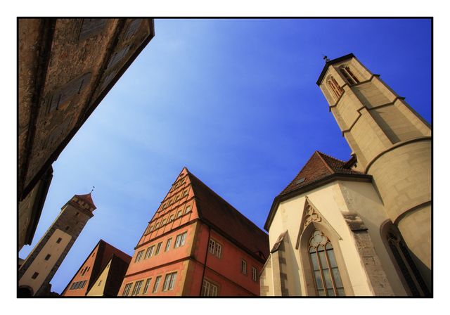 Rothenburg wide angle Germany