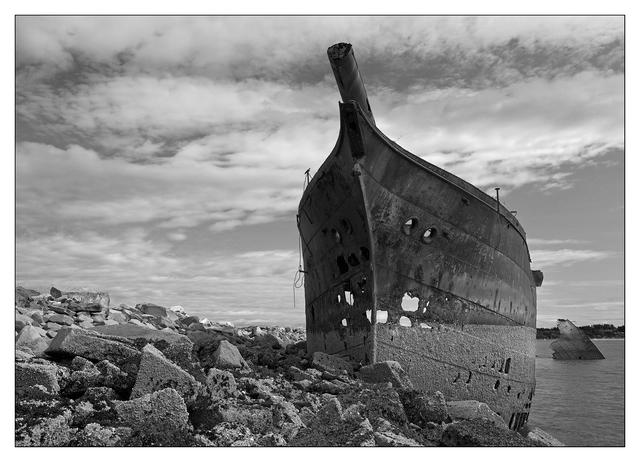 Royston Wrecks 2021 1 Black & White and Sepia
