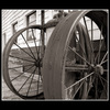 wheels - Black & White and Sepia