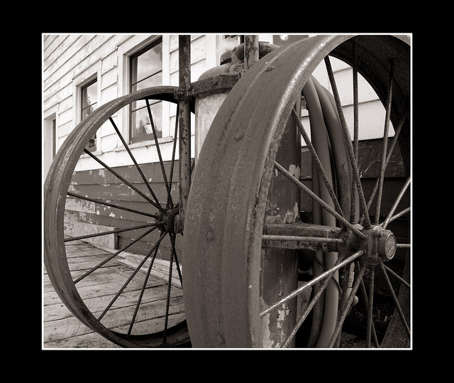 wheels Black & White and Sepia