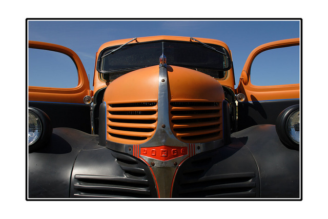 Orange Dodge Automobile