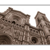 Florence Duomo - Black & White and Sepia