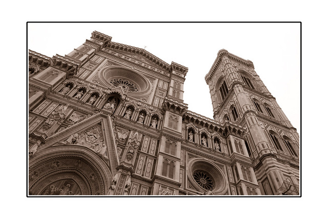 Florence Duomo Black & White and Sepia