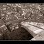 Duomo View - Black & White and Sepia
