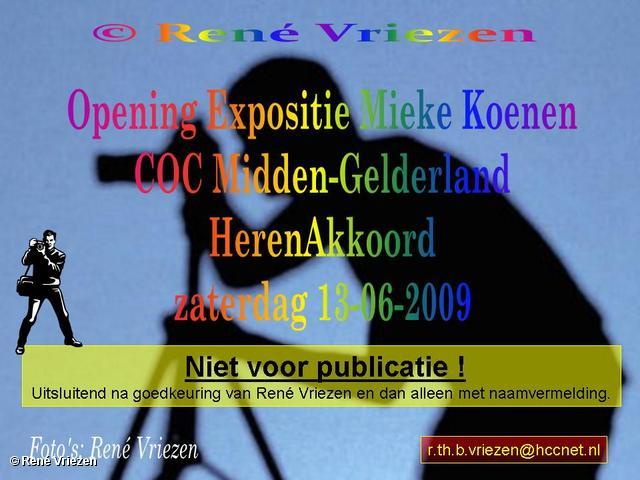 © René Vriezen 2009-06-13 #0000 COC-MG Mieke Koenen opening Expositie, Optreden HerenAkkoord zaterdag 13 juni 2009