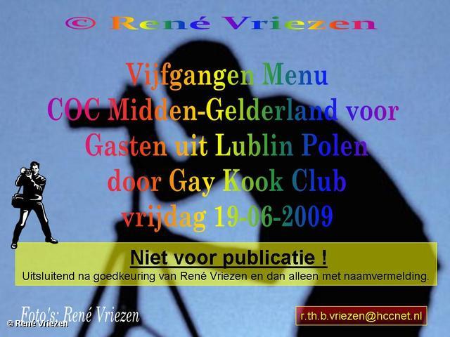 © René Vriezen 2009-06-19 #0000 COC-MG Dinner met gasten uit Lublin vrijdag 19 juni 2009