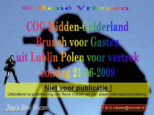 © René Vriezen 2009-06-21 #0000 COC-MG Brunch voor gasten Lublin zondag 21 juni 2009