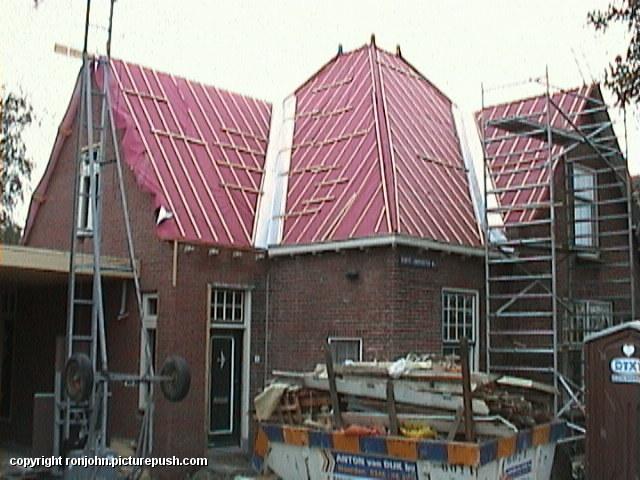 Ouderhuis verbouwing 04-10-02 2 Het ouderlijkhuis van Ron