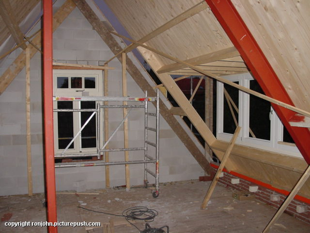Ouderhuis verbouwing 24-09-02 3 Het ouderlijkhuis van Ron