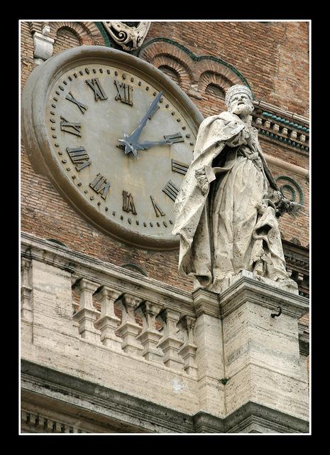 Santa Maria Maggiore clock Italy photos