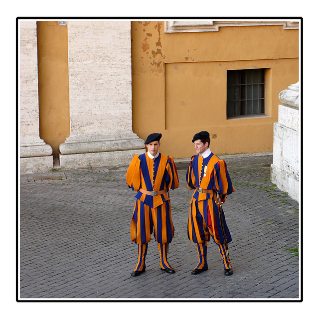 St Peter's Guards Italy photos