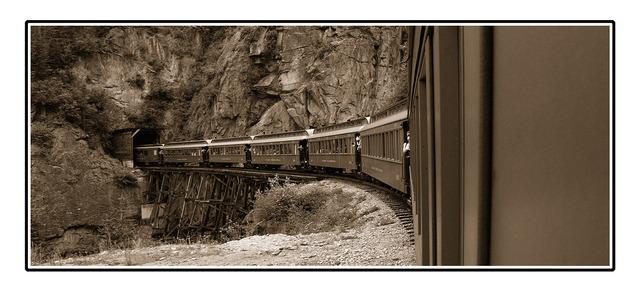 white pass tunnel sepia Black & White and Sepia