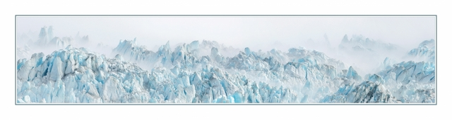 Hubbard Glacier Mist Pano Panorama Images