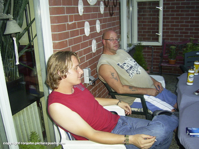BBQ bij Ruud en Wil 07-08-09 41 Bij de achterburen