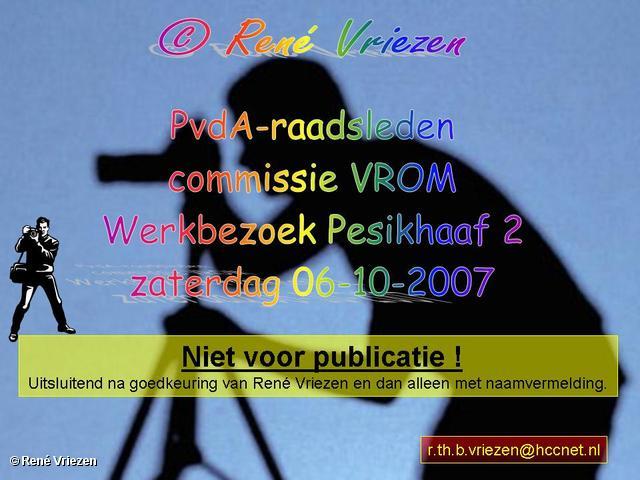 René Vriezen 2007-10-06 #0000 PvdA-raadsleden commissie VROM Werkbezoek Pesikhaaf2 06-10-2007