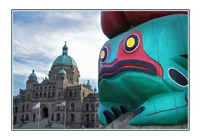 frog totem Vancouver Island