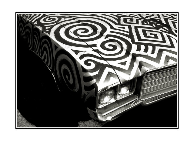 b&w car Black & White and Sepia