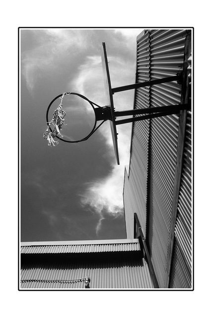 hoop Black & White and Sepia
