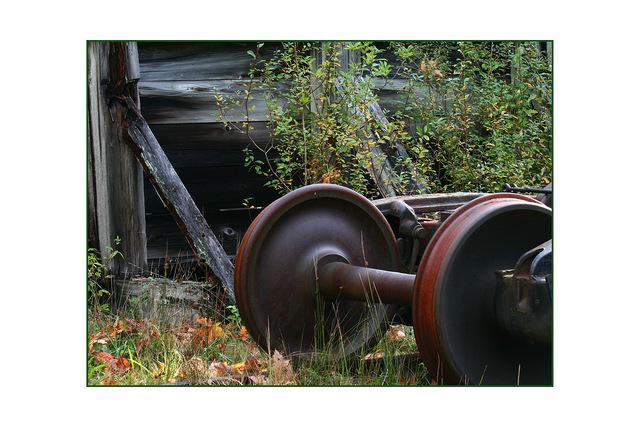 train wheels Abandoned