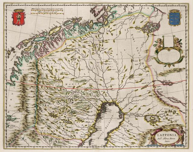 Kaart van Lapland Old maps of Finland