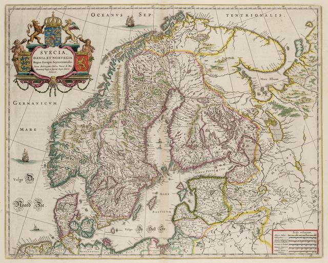 Kaart van Scandinavie  Old maps of Finland