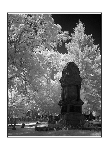 infra cemetary Infrared photography