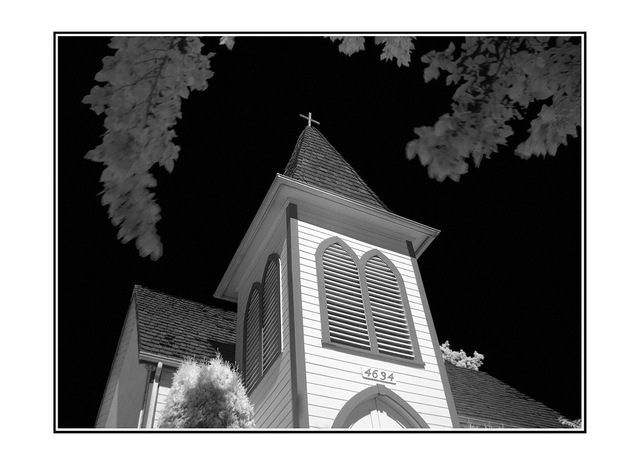 infra church Infrared photography