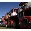 bus row blue sky - Automobile