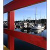 red fence boats - Vancouver Island