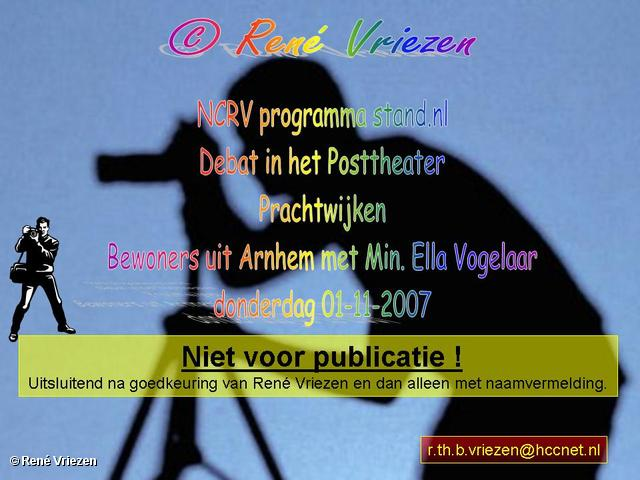 ©René Vriezen 2007-11-01 #0000 NCRV programma stand.nl_Debat Prachtwijken Min. Ella Vogelaar_01-11-2007
