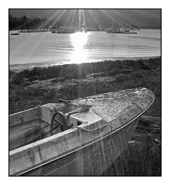 Sunny Deep Bay Black & White and Sepia