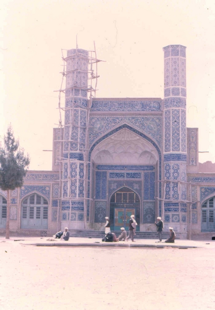 herat mosk 4 Afghanstan 1971, on the road