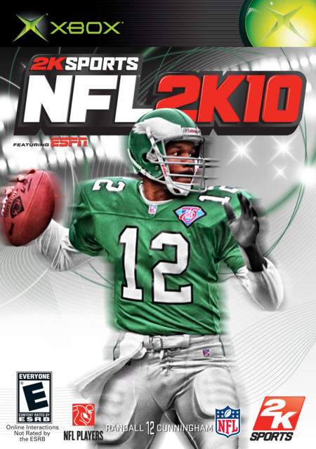 Randall Cunningham 2K10 XBOX Cover by CSC NFL 2K