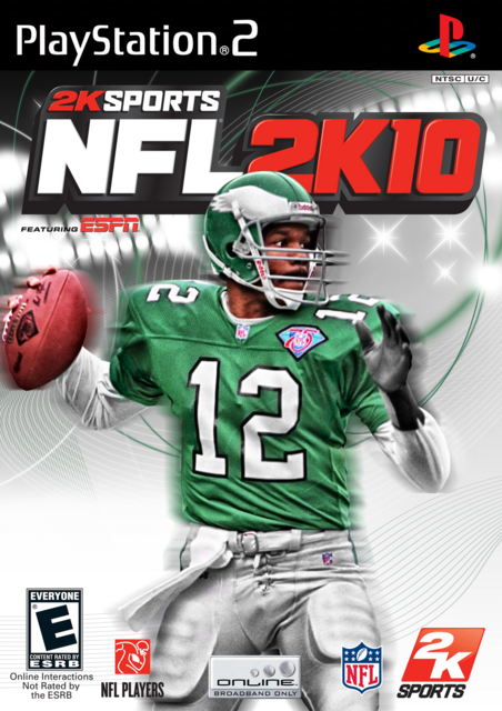 Randall Cunningham 2K10 PS2 Cover by CSC NFL 2K
