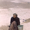 Iraq, woman in the dessert - Afghanstan 1971, on the road