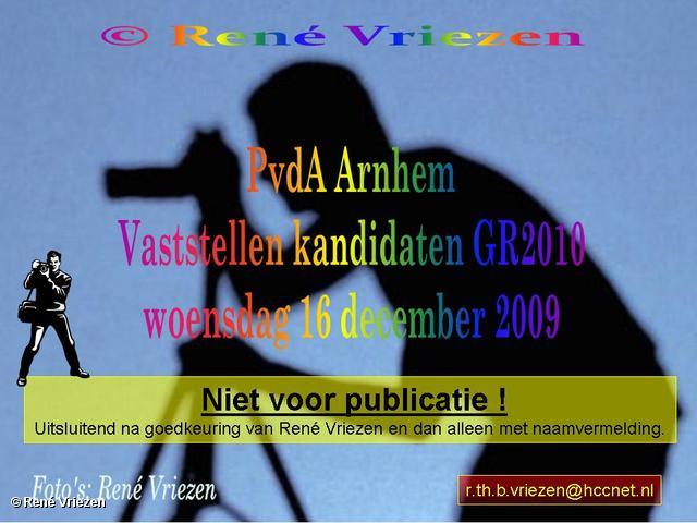 René Vriezen 2009-12-16 #0000 PvdA Arnhem bijeenkomst vaststellen kandidaten GR2010 woensdag 16 december 2009