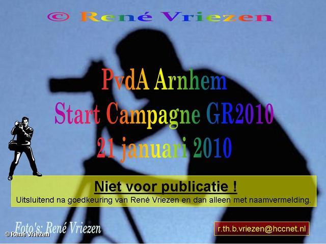 René Vriezen 2010-01-21 #0000 PvdA Arnhem Start Campagne GR2010 donderdag 21 januari 2010