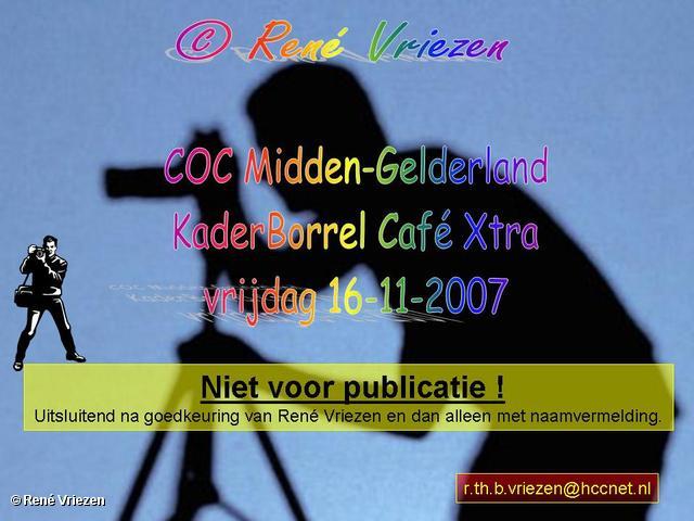 ©René Vriezen 2007-11-16 #0000 COC-MG KaderBorrel Café Xtra vrijdag 16-11-2007