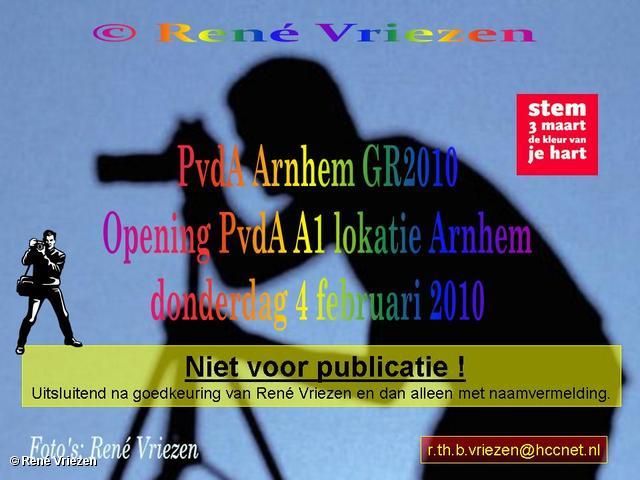 René Vriezen 2010-02-04 #0000 PvdA Opening PvdA A1 lokatie Arnhem donderdag 4 februari 2010