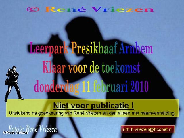René Vriezen 2010-02-11 #0000 Leerpark Presikhaaf Arnhem Klaar voor de toekomst donderdag 11 februari 2010