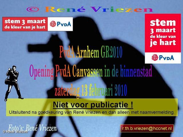 René Vriezen 2010-02-13 #0000 PvdA Armhem Canvassen Binnenstad Arnhem zaterdag 13 februari 2010